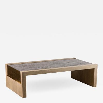 Paul Marra Design Rustic Modern Waterfall Table