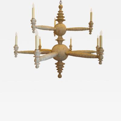 Paul Marra Design Spool Chandelier Two Tier by Paul Marra