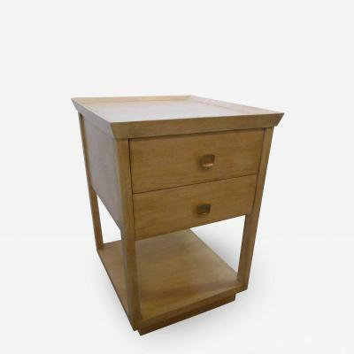 Paul Marra Design Two Tier Nightstand Oak Natural Finish by Paul Marra