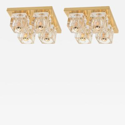 Peill Putzler Pair of Cubic Flush Mount by Peill Putzler Germany