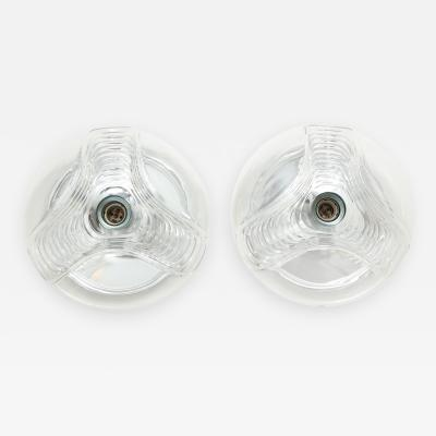 Peill Putzler Pair of Extra Large Peill Putzler Wave Lights Sconces