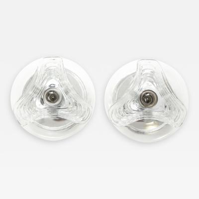 Peill Putzler Pair of Peill and Putzler Wave Sconce Flushmounts