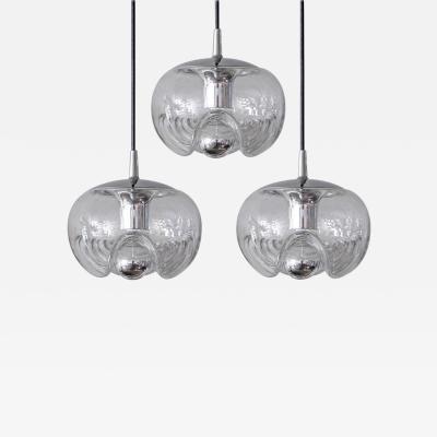 Peill Putzler Set of Three Clear Glass Hanging Lights