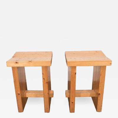 Perriand French Pine Stools