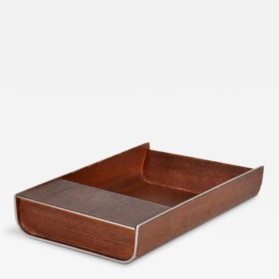 Peter Pepper Products Mid Century Modern Peter Pepper Products Desk Accessory Walnut Aluminum SM Tray
