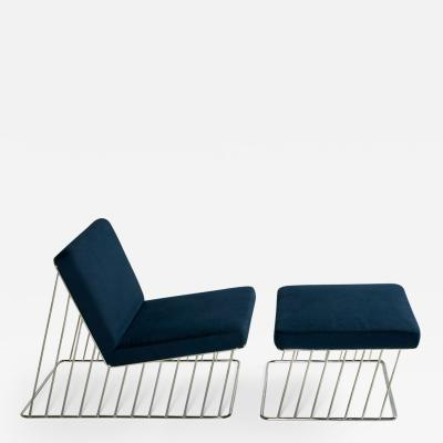 Phase Design Wired Italic Lounge Chair Ottoman Indoor