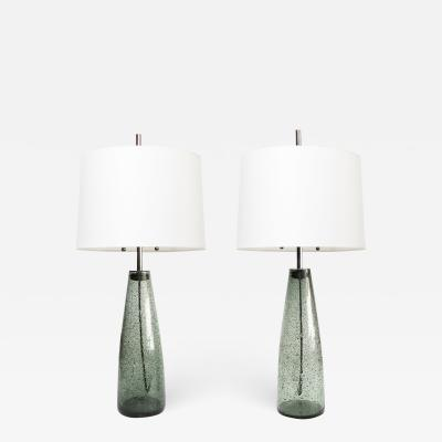 Philips PAIR OF STROMBOLI LAMPS BY BENGT ORUP HYLLINGE GLASBRUK