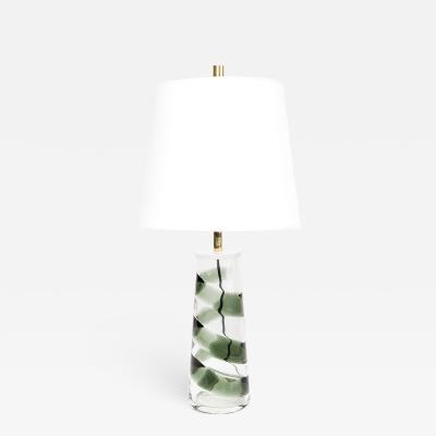 Philips PHILIPS MID CENTURY MODERN SPIRAL GLASS LAMP GRAY