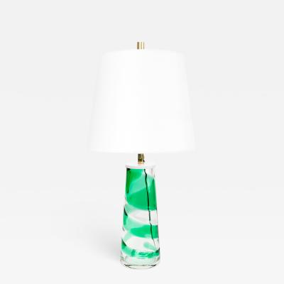 Philips PHILIPS MID CENTURY MODERN SPIRAL GLASS LAMP GREEN