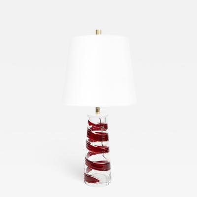 Philips PHILIPS MID CENTURY MODERN SPIRAL GLASS LAMP RED