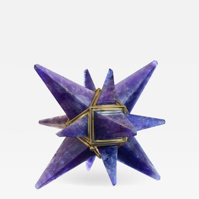 Phoenix Gallery Miniature Star Amethyst Quartz Table Light by Phoenix
