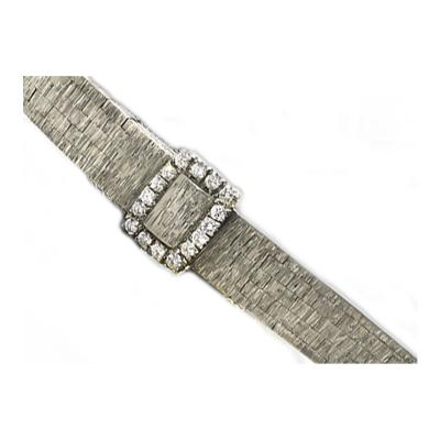 Piaget 1960s Piaget Concealed Dial Diamond Set 18KT White Gold Ladies Wristwatch