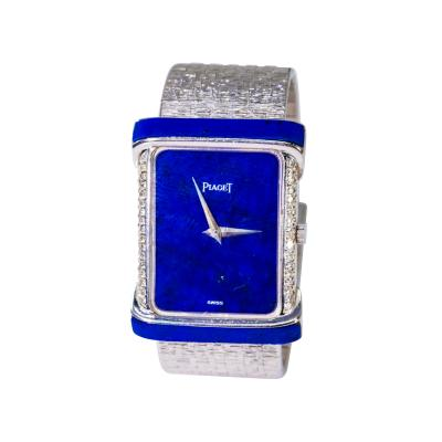 Piaget Large 1970s Piaget Lapis 18 Karat White Gold Diamond Set Bracelet Watch
