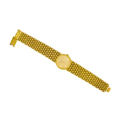 Piaget Piaget Boule dor 18 Kt YG 1970s Motif Wristwatch