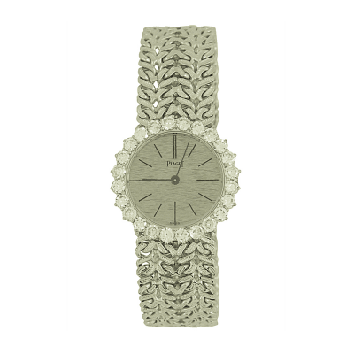 Piaget Piaget Ladys White Gold with Diamonds Bezel Wristwatch