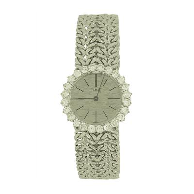 Piaget Piaget Ladys White Gold with Diamonds Bezel Wristwatch