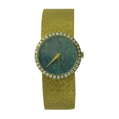 Piaget Piaget Ladys Yellow Gold Diamond Bezel Rare Opal Dial Wristwatch