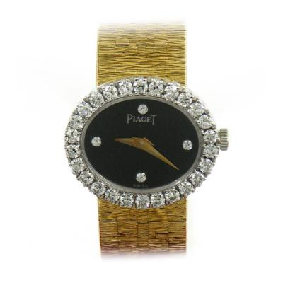Piaget Piaget Ladys Yellow Gold Diamond Onyx Quartz Wristwatch
