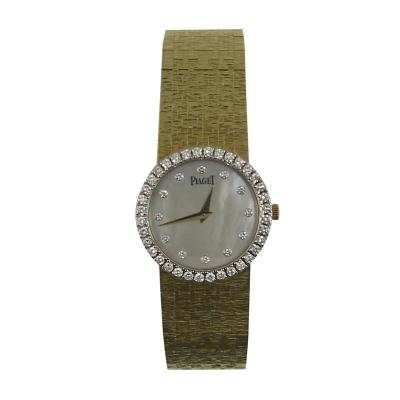 Piaget Piaget Ladys Yellow Gold Mother of Pearl Diamond Quartz Wristwatch