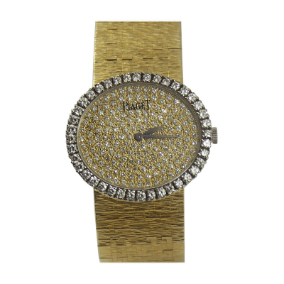 Piaget Piaget Ladys Yellow Gold Pave Diamond Wristwatch