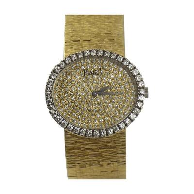 Piaget Piaget Ladys Yellow Gold Pave Diamond Wristwatch