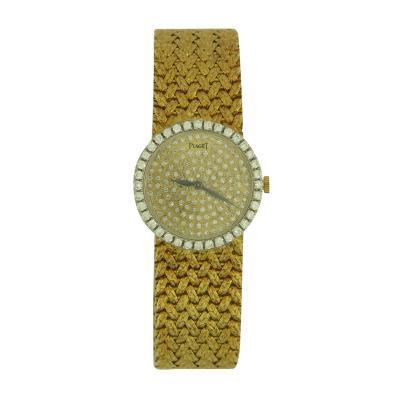 Piaget Piaget Ladys Yellow Gold and Diamond Bracelet Watch