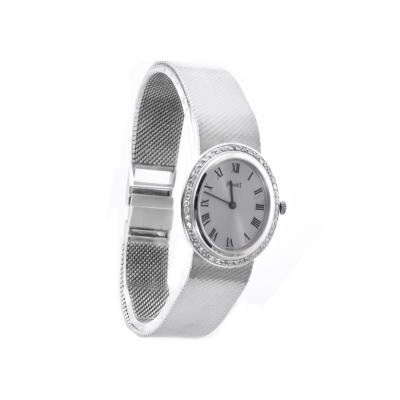 0407e3b41e7 Piaget Rare Piaget 1970s Factory Diamond Set 18 KT White Gold WristWatch