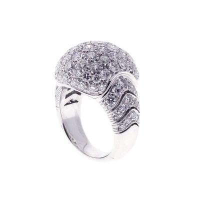 Picchiotti Picchiotti Pave Diamond Gold Dome Ring