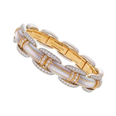 Picchiotti Picchiotti Xpandable Mother of Pearl Diamond Bracelet