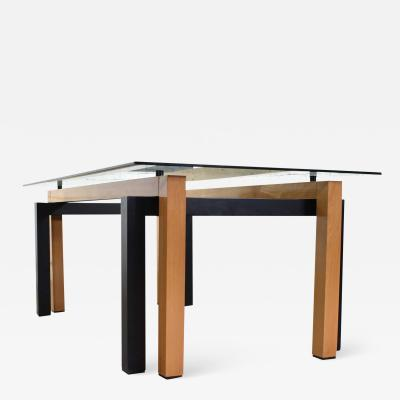 Pietro Costantini Modern glass top dining table made in italy by pietro costantini cherry