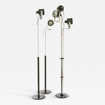 Pio Luigi Brusasco and Giovanni Torretta Three P433 floor lamps by Brusasco Torretta for Luci Italia 1970s