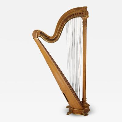 Pleyel Wolff Lyon Cie Large gilt bronze mounted maple harp by Pleyel Wolff Lyon and Cie