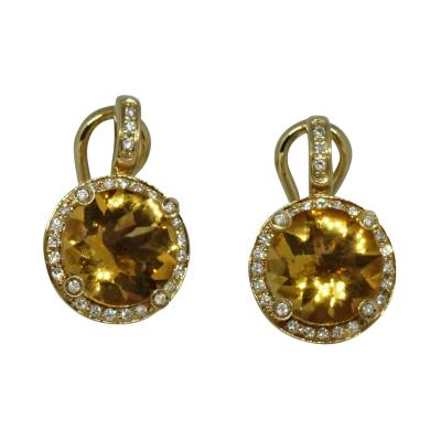 Poiray Paris Poiray Paris Citrine Diamond Earrings
