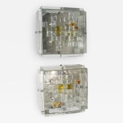 Poliarte PAIR OF BRUTALIST WALL LIGHTS BY POLIARTE