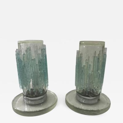 Poliarte Pair of Murano Glass lamps by Poliarte c 1970