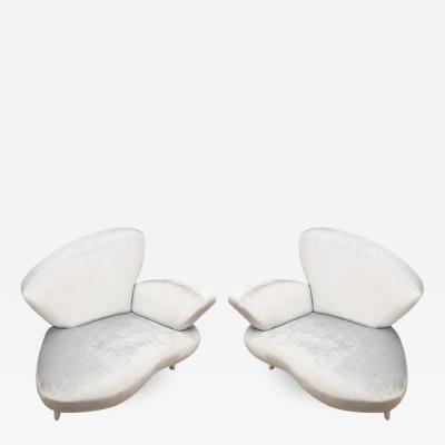Poltromec Pair of Lounge Chairs by Poltromec Italia