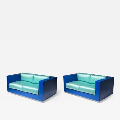 Poltronova Pair of Saratoga Settee by Massimo Vignelli for Poltronova