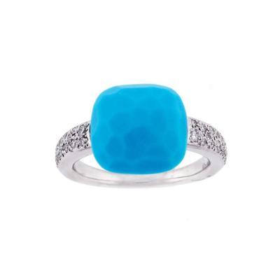 Pomellato Pomellato Diamond and Turquoise Capri Ring