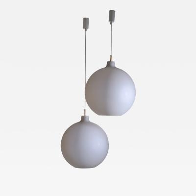 Poulsen 2 of 13 Large Vilhelm Wohlert Pendant Lamps for Poulsen