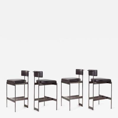Powell Bonnell Set of Four Bar Stools by Powell Bonnell