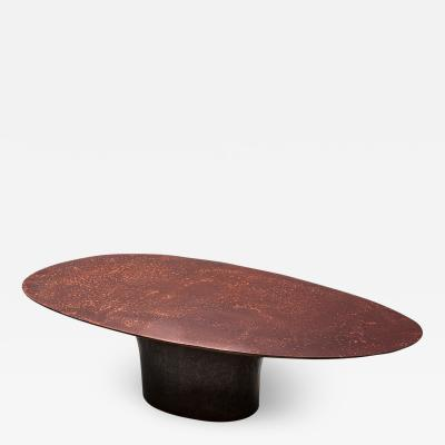 Privatiselectionem Hand sculpted liquid copper resin low coffee table