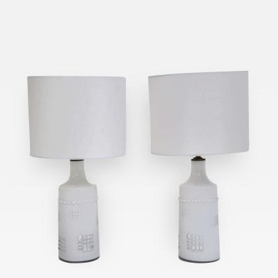 Pukeberg Swedish White Glass Lamps Pukeberg
