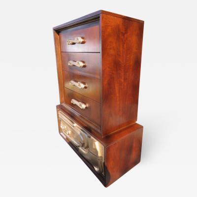Pulaski Furniture Corporation Fabulous Sculptural Tall Chest Dresser by Pulaski Witco Oceanic Style