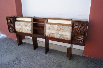 Pulaski Furniture Corporation Lacquered Walnut Oceanic Series King Headboard by Pulaski Furniture