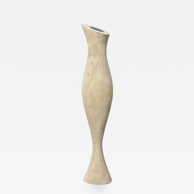 R Y Augousti Italian Modern Shagreen Vase R and Y Augousti
