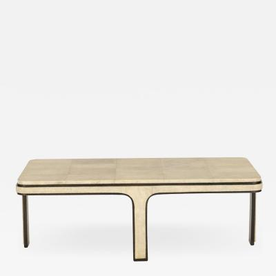 R Y Augousti R Y Agousti Shagreen Cocktail Table