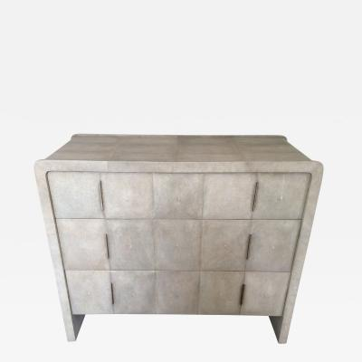 R Y Augousti R Y Augousti Natural Shagreen 3 Drawer Commode
