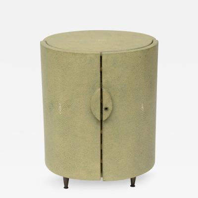 R Y Augousti R Y Augousti Shagreen Covered Jewelry Cabinet