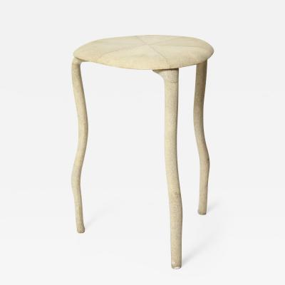 R Y Augousti Shagreen Three Legged Table By R Y Augousti