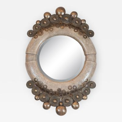 R Y Augousti UNUSUAL SHAGREEN MIRROR by R Y Augousti